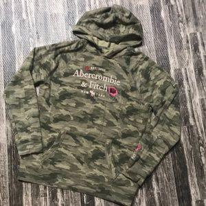 Camouflage camp hoodie sweatshirt